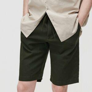 Reserved - Kraťasy svysokým podílem lnu apříměsí bavlny - Khaki