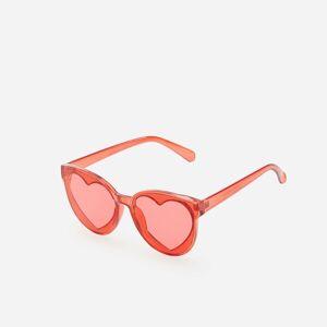 Reserved - Sluneční brýle se skly vetvaru srdcí - Červená