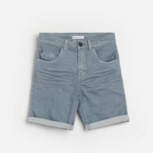 Reserved - Jednobarevné šortky - Modrá