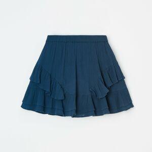 Reserved - Krepová sukně - Tmavomodrá