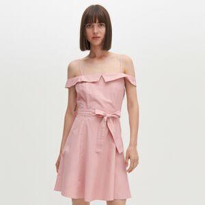 Reserved - Šaty s odhalenými rameny - Růžová