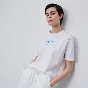 Reserved - T-shirt s nápisem - Bílá
