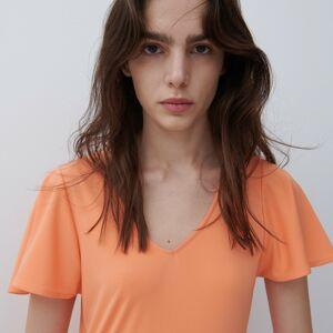 Reserved - Šaty s volánky - Oranžová