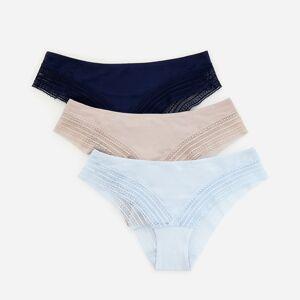 Reserved - Sada 3bokových kalhotek svysokým podílem viskózy - Modrá