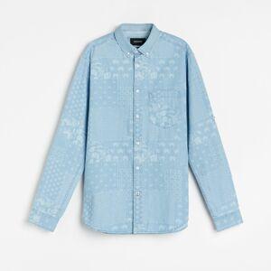 Reserved - Vzorovaná košile regular fit - Modrá