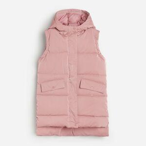 Reserved - Prošívaná vesta s kapucí - Růžová