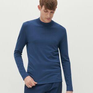 Reserved - Hladký svetr spolorolákem - Modrá