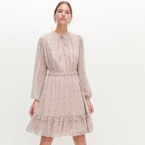 Reserved - Šaty sdrobnými puntíky - Krémová
