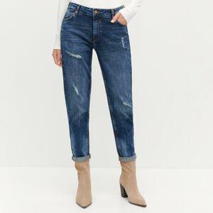 Reserved - Dámské jeans kalhoty - Tmavomodrá