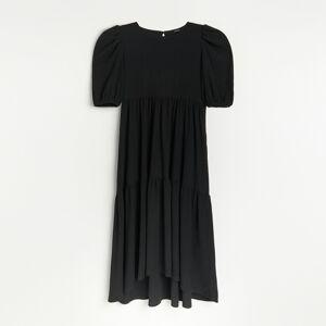 Reserved - Žerzejové maxi šaty - Černý