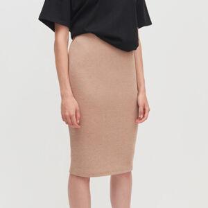 Reserved - Žerzejová sukně - Béžová