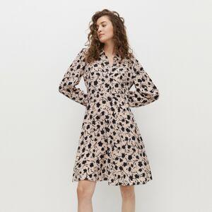 Reserved - Košilové šaty skvětinovým vzorem - Vícebarevná