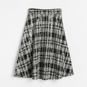 Reserved - Flitrová kostkovaná sukně - Černý