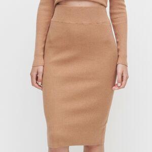 Reserved - Sukně z proužkované pleteniny -