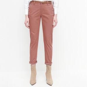 Reserved - Kalhoty chino spáskem - Růžová