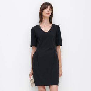 Reserved - Šaty skrátkými rukávy - Černý