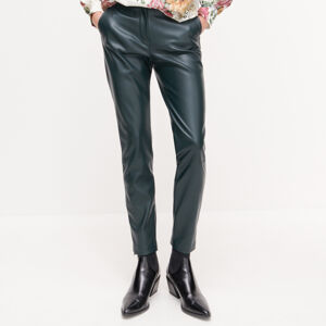 Reserved - Koženkové kalhoty - Khaki