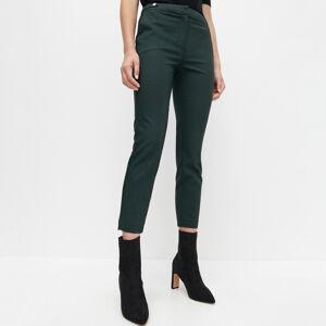 Reserved - Plisované cigaretové kalhoty - Khaki