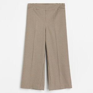 Reserved - Kalhoty se širokými nohavicemi - Béžová