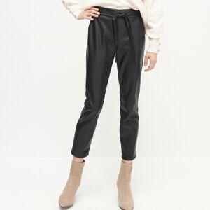 Reserved - Kalhoty z eko kůže - Černý