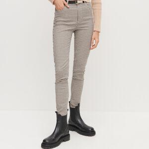 Reserved - Dámské kalhoty & pásek - Béžová