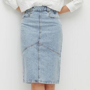 Reserved - Džínová midi sukně - Modrá