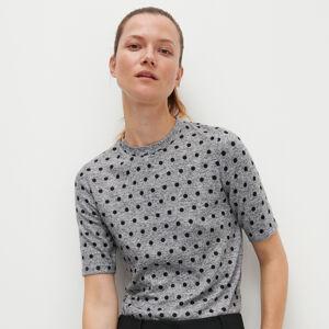 Reserved - Puntíkované tričko - Světle šedá