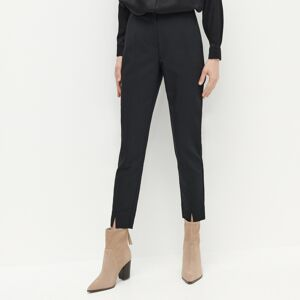 Reserved - Cigaretové kalhoty svysokým podílem bavlny - Černý