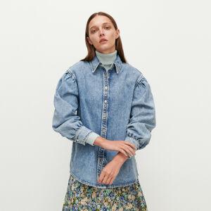 Reserved - Džínová košile sbalonovými rukávy - Modrá