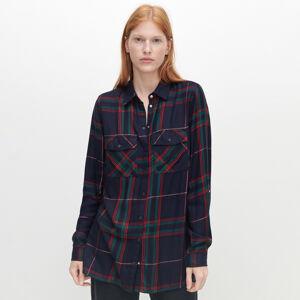 Reserved - Kostkovaná oversize košile - Vícebarevná