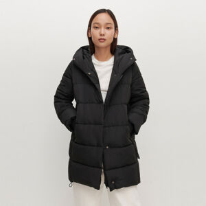 Reserved - Dlouhá zateplená bunda - Černý