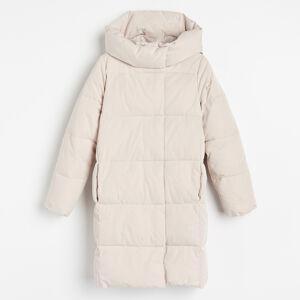 Reserved - Zateplený kabát - Krémová