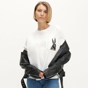 Reserved - Tričko s potiskem na kapsičce - Bílá
