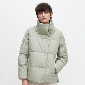 Reserved - Prošívaná bunda zimitace kůže -