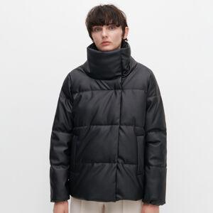 Reserved - Prošívaná bunda zimitace kůže - Černý