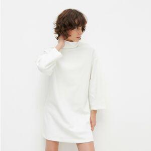 Reserved - Úpletové šaty s rolákem - Krémová