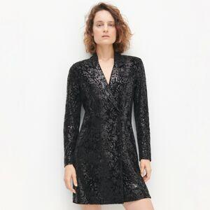 Reserved - Flitrové mini šaty - Černý