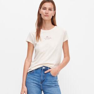 Reserved - Dámské tričko - Krémová