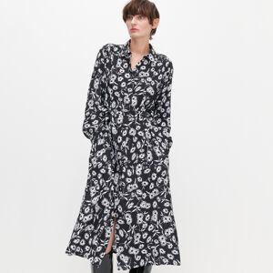 Reserved - Květované košilové šaty - Vícebarevná