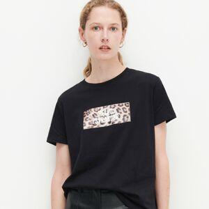 Reserved - T-shirt s nápisem - Černý