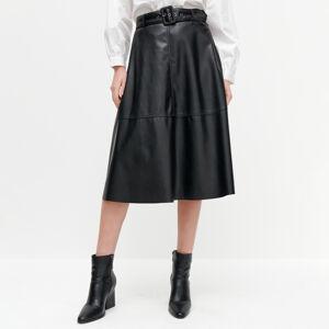 Reserved - Áčková sukně - Černý