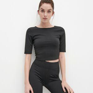 Reserved - Tričko s výstřihem na zádech - Černý