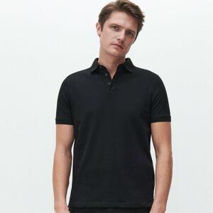 Reserved - Bavlněné polo tričko - Černý
