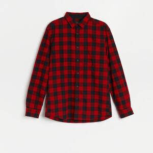 Reserved - Kostkovaná košile regular fit - Červená