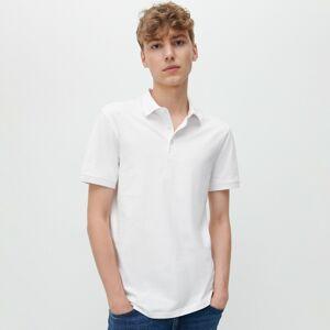 Reserved - Jednobarevná polokošile - Bílá