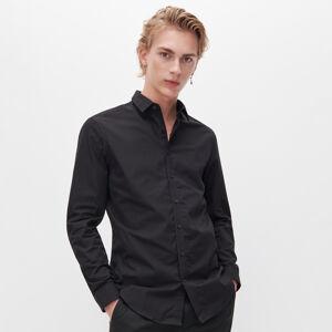Reserved - Košile slim fit zorganické bavlny - Černý