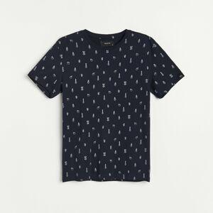 Reserved - Men`s t-shirt - Tmavomodrá