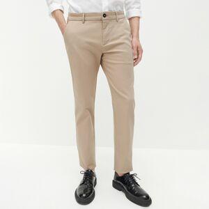 Reserved - Kalhoty slim chino ze strukturované látky - Béžová