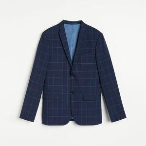 Reserved - Kostkované oblekové sako slim fit - Tmavomodrá