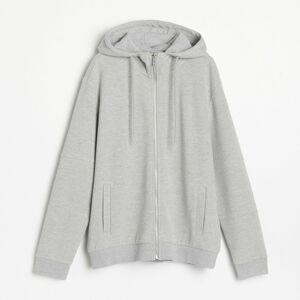 Reserved - Mikina se zapínáním a s kapucí - Světle šedá